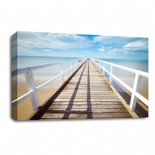 Seascape Tropical Wall Art Picture Pier Island Beach Sand Print